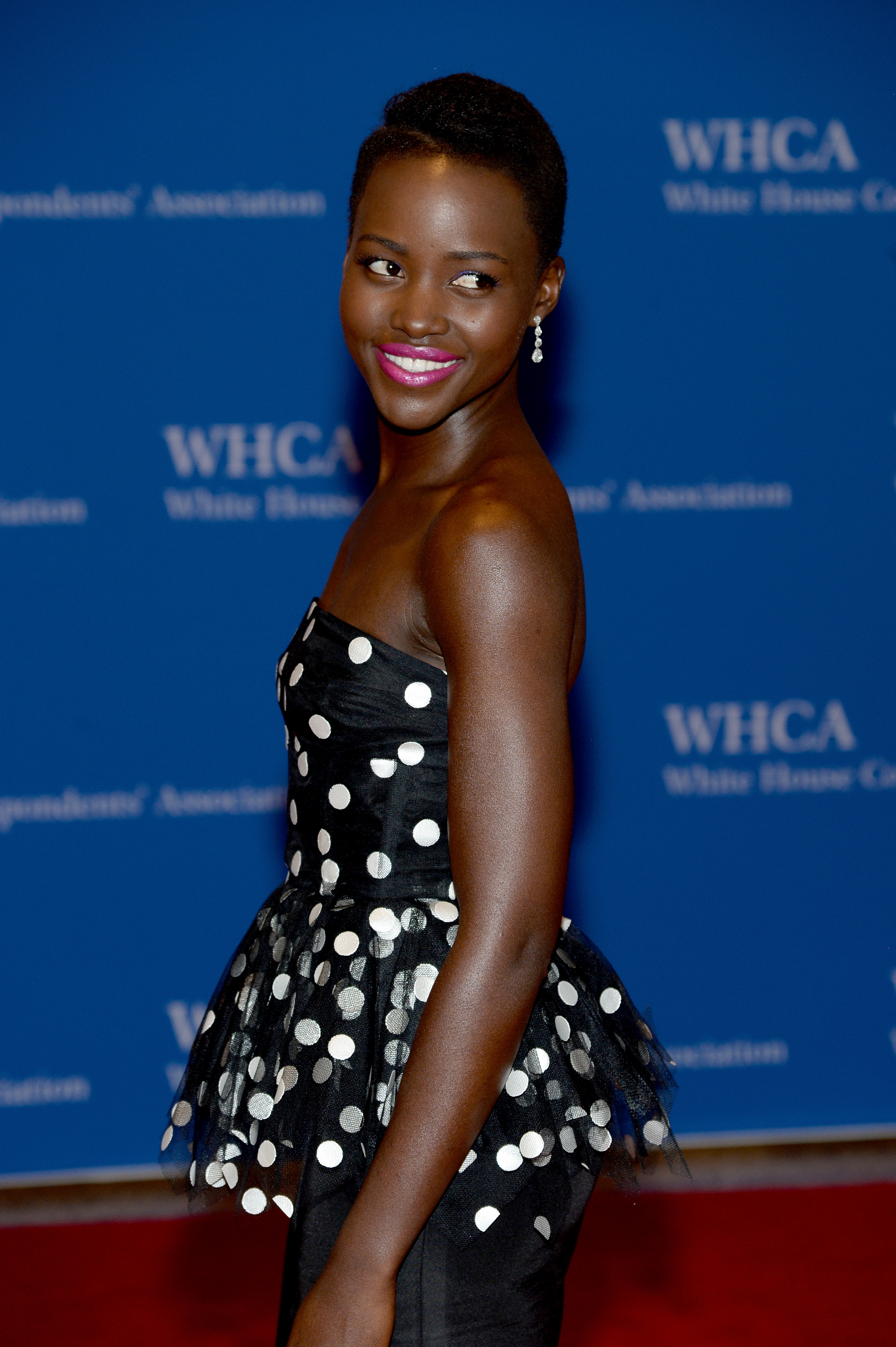 WASHINGTON, DC - MAY 03: Actress Lupita Nyong'o attends the 100th Annual White House Correspondents' Association Dinner at the Washington Hilton on May 3, 2014 in Washington, DC. (Photo by Dimitrios Kambouris/Getty Images)