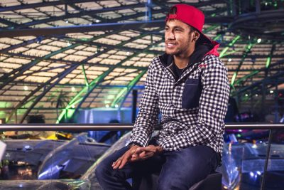 Neymar is interviewed at Hangar 7 in Salzburg, Austria on December 2nd, 2013 // David Robinson/Red Bull Content Pool // P-20131203-00304 // Usage for editorial use only // Please go to www.redbullcontentpool.com for further information. //