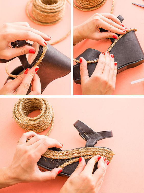 diy espadrilles - Βαρέθηκες τα σανδάλια σου; 10 μοναδικοί τρόποι να τα ανανεώσεις και να φαίνονται σαν καινούρια!